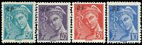 France 1942 - YT 657-660
