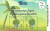Brasilien 2016 - OL postfrisk miniark - blå maskot    Tom - Postfrisk ark 30 x 1,40