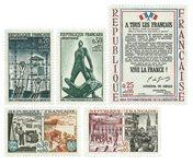 Frankrig - Befrielse YT1407-1411 - Postfrisk