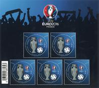 Frankrig - Fodbold EM - Postfrisk miniark