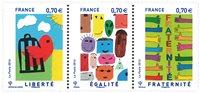 法国邮票 自由,平等和兄弟 套票 新邮 外国邮票 邮票收藏