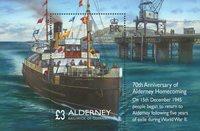英属奥尔德尼岛新邮,第二次世界大战归来