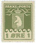 Grønland - Pakkeporto - AFA nr. 1 Postfrisk