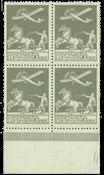 Bloque de 4, 50ore correo aéreo antiguo