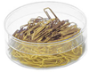 Paper clips - Brass couloured - 140 pcs in box