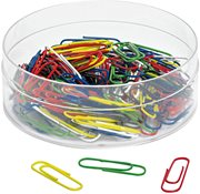 Paper clips - Diff. colours - 140 pcs in a box