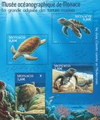 Monaco - Sea turtles - Mint souvenir sheet