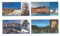 挪威邮票 城市周年纪念邮票 套票 4枚