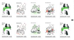 Danmark - Børnesange - Postfrisk hæfte