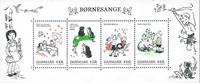 Danemark - Chansons d'enfants - Bloc-feuillet neuf