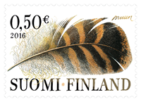Finland - Feather - Mint stamp
