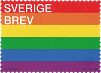 Sverige - Pride - Postfrisk frimærke