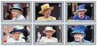 英属奥尔德尼岛新邮 纪念英国女王伊丽莎白二世90寿辰 6枚