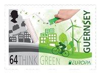 根西岛邮票2016欧罗巴系列,生态欧洲:绿色思维 新邮1枚