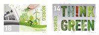 挪威邮票 2016欧罗巴系列,生态欧洲:绿色思维