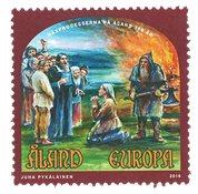 Åland - Processus de sorcière - Timbre neuf