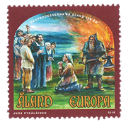 Åland - Hekseprocesserne - Postfrisk frimærke