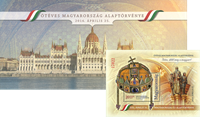 Hungary - Constitution Crystal block - Mint sheetlet