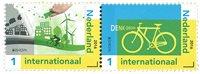 外国邮票 欧罗巴环保套票2枚