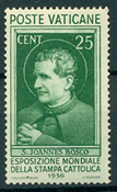 Vaticano 1936 - Stampa cattolica - 25 c. verde nuovo