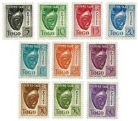 Togo - YT 22-31 taxe
