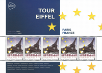 Netherlands - Europa's capitals : Paris - Mint souvenir sheet