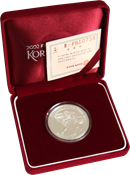 Corea del Sud - moneta d'argento Mondiali '02 Stadio Daejeon