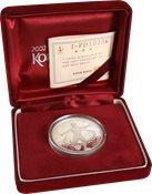 Korea. VM 2002 sølvmønt. Busan stadion