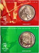 JO 2000 Sydney en bronze Archery/Hockey +  ALBUM