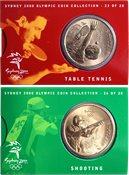 JO 2000 Sydney en bronze Shooting/Table Tennis