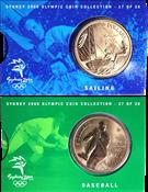 Olympische Spelen 2000 - Bronzen munt Honkbal / Zeilen