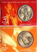 Olympische Spelen 2000 - Bronzen munt Basketbal / Badminton