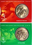JO 2000 Sydney en bronze cycling/equestrian