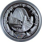 OL 2000 i Sydney - Sølvmønt 'Harbour of Life' (fravandsiden)
