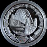 OL 2000 i Sydney - Sølvmønt *Harbour of Life* (fra  vandsiden)