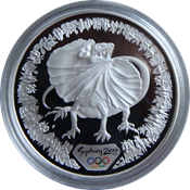 Olympische Spelen 2000 in Sydney - Zilveren munt met Salamander