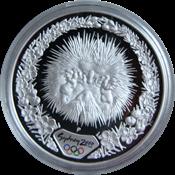 Olympische Spelen 2000 in Sydney - Zilveren munt met stekelvarken