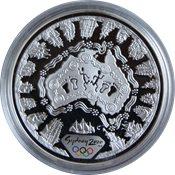 OL 2000 i Sydney - Sølvmønt med søkort