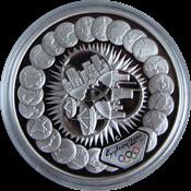 Olympische Spelen 2000 in Sydney - Zilveren munt met wereld illustraties