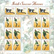 Ireland 'Irish soccer heroes' - Mint sheet
