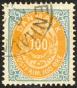 Danmark - Tofarvet øremærke - AFA nr. 31 - Stemplet