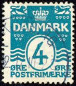 Danmark 1917 - AFA nr. 80A - Bølgelinie - Stemplet