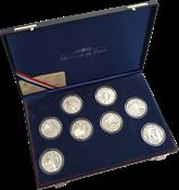 Foldbold mønter 8 stk i box