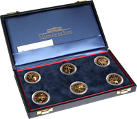 Football gold coins - 6 coins in a box
