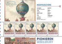 Holland - Flyserie - Montgolfiere - Postfrisk miniark