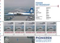 Holland - Flyserie - Fokker - Postfrisk miniark