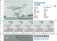 Netherlands - Airplanes Monoplan - Mint souvenir sheet
