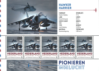 Netherlands - Airplanes Hawker - Mint souvenir sheet