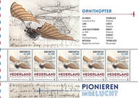 Netherlands - Airplanes Ornith - Mint souvenir sheet