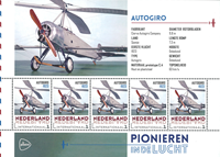 Holland - Flyserie - Autogi - Postfrisk miniark